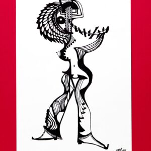 The Pipe Piper 8x12inch Black Archival Ink 2005