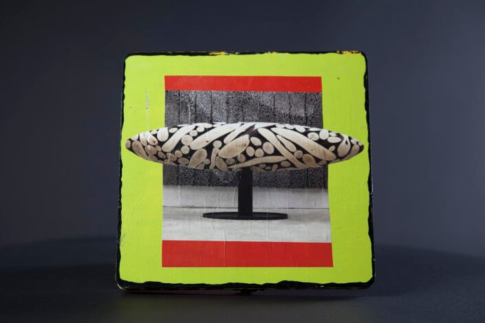 MoMa Wood Box 8x8 inch Acrylic Mixed Media